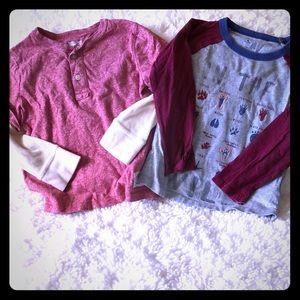 Boys Gap long sleeve shirts size 4